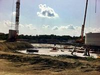 Der Rohbau der Gärproduktlager beginnt (22.08.2011)