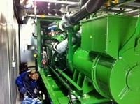 Das BHKW am Anlagenstandort geht in Betrieb, die weiteren vier BHKW´s folgen in den nächsten Wochen (09.11.2011)